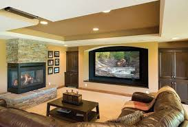 Modern Living Room With Fireplace Mantel Decorating The Tv For Innovation Design