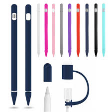<b>Solid Color</b> Soft <b>Silicone</b> Compatible For Apple Pencil Case ...