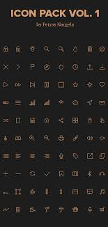 stroke icons in psd ai svg webfont 80 icons basic icons flat icons 1000