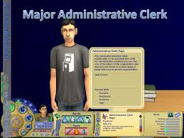 mod the sims new major administrative clerk advertisement
