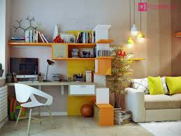 impressive study cheap living room ideas room ideas with awesome decorating table white and orange wall affordable minimalist study room design