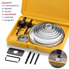 21pcs carbon Steel Hole Saw <b>Sets kit</b>, Normal Wood, Plywood ...