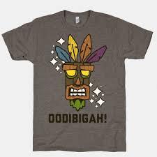 Crash <b>Aku</b>-<b>Aku Mask</b> T-Shirt   LookHUMAN   The Things I Love ...