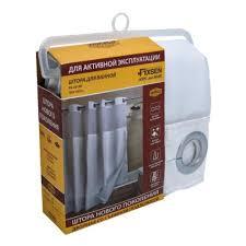 <b>Шторка для ванной Fixsen</b> FX-3319E белая (180х180 см ...