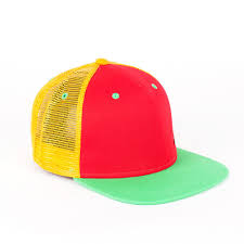 <b>Бейсболка TRUESPIN 3</b> Tone Blank Trucker Cap Red-Yellow-Green