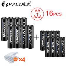 <b>PALO 8Pcs</b> 1.2V <b>AA</b> rechargeable battery 3000mah NIMH 1.2V <b>aa</b> ...