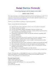 babysitter job description sample resume sample babysitter job description sample