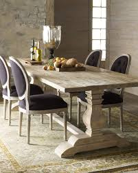 hardware dining table exclusive: natural dining table amp black linen chairs horchow