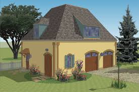 New South Classics  Carriage House  NEW  French Country Car Garage Plan  Small Carriage House