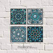 mosaic wall decor: moroccan canvas set moroccan mosaic set moroccan wall decor moroccan ornaments home