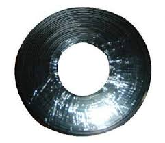 Flat telephone <b>cable</b> stranded wire 100 meters black, 4 wires ...