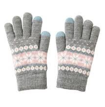 Женские теплые <b>двухслойные перчатки для</b> вождения, вязаные ...