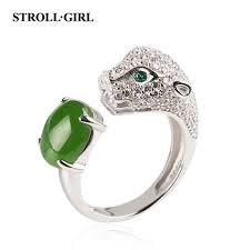 <b>Strollgirl Authentic 925 Sterling</b> Silver Cheetah Animal Ring ...