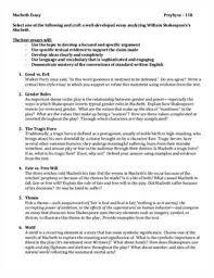 macbeth supernatural theme essayfree macbeth themes essay   example essays