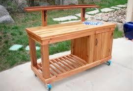cedar potting bench plans cedar bench plans