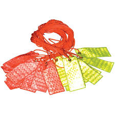<b>Reflective</b> Bunting Flags <b>Orange</b>-<b>Green</b> YAMADA   OfficeMate