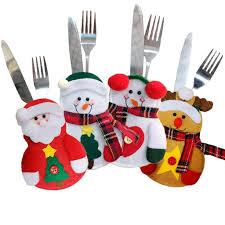1pcs/<b>4pcs Merry Christmas</b> Knife Fork Cutlery Set Skirt Pants ...