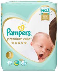<b>Pampers подгузники Premium</b> Care 1 (2-5 кг) 72 шт. — купить по ...