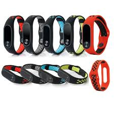 Xiaomi Mi Band 2 <b>Double Color Silicone</b> Sport <b>Style</b> Replacement ...