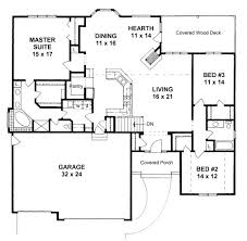 Plan     bedroom Ranch w  Walk in Pantry  Hearth room and    Floor Plan