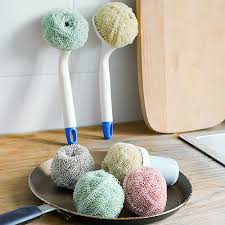 Non stick Steel Ball <b>Nanofiber</b> Cleaning Ball Dishwashing Brush <b>Pot</b> ...