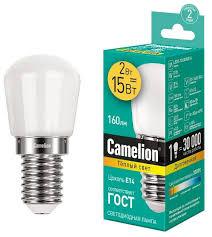 <b>Лампа светодиодная Camelion</b> 13153, E14, T26, 2Вт — купить по ...