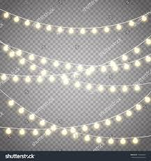 Christmas lights isolated on transparent background. Set of golden ...