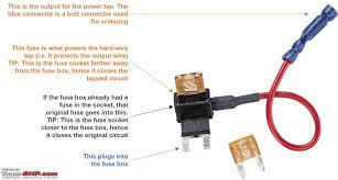 how to wire into a fuse box facbooik com How To Wire To Fuse Box diy hardwiring your dashcam team bhp wire fuse box