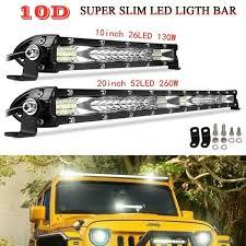 10D 10/<b>20 inch</b> 26led 130w/52led 260w <b>Ultra</b>-<b>Thin</b> LED Light Bar ...