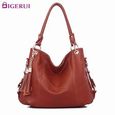 New <b>Genuine Leather Tassel</b> Handbag <b>Women</b> Messenger Bags ...