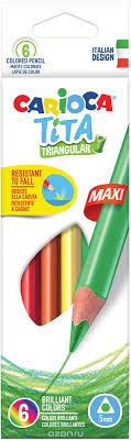 Carioca <b>Набор крупных цветных карандашей</b> Tita Maxi 6 цветов ...