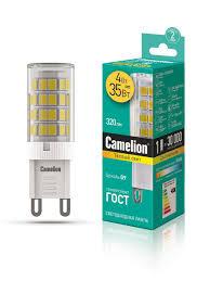 <b>Светодиодная лампочка LED</b> 4W 3000К G9 Camelion 10268311 в ...