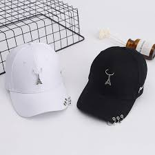 Online Shop 2019 New Baseball Cap with Eiffel Tower Rings Hat ...