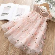 <b>Lace</b> Girls Dress 2019 <b>New Summer</b> Kid Costume Flower Princess ...