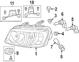 toyota highlander hybrid headlamp assembly parts diagram