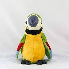 Cutoget <b>26cm Electric Plush Simulation</b> Parrot Toy Macaw Toy Cute ...