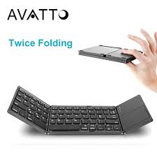 [AVATTO] A18 <b>Portable</b> Twice <b>Folding</b> Bluetooth <b>Keyboard</b> BT ...