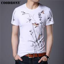 <b>COODRONY</b> Chinese Style Flower And Bird Painting <b>T Shirt Men</b> ...