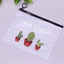 File Bags <b>Cactus PVC Waterproof</b> Pencil Cases Transparent ...