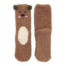 Super Soft Cozy Warm Cute Animal Non-Slip Fuzzy Crew Winter ...