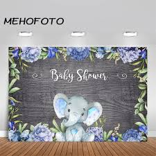 <b>MEHOFOTO</b> Elephant <b>Baby Shower Backdrop</b> It's A Boy Baby ...
