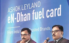 Ashok Leyland unveils pre-paid fuel card in pact with HPCL ...