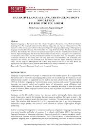 (pdf) figurative language analysis in <b>celine dion's</b> song lyrics <b>falling</b> ...