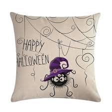 Shop <b>Halloween Cartoon</b> Owl Printed Pillow <b>Case</b> Cotton Linen ...