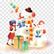 <b>Cartoon Christmas</b> Illustration - Holiday - <b>Snowman Pattern</b> Vector ...