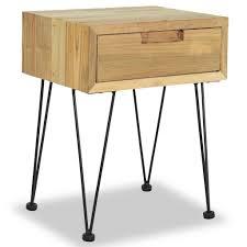 vidaXL <b>Bedside Cabinet 40x30x50</b> cm Solid Teak