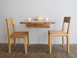 room wooden table small space