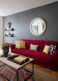 furniture living room wall: living room red sofa nyc diana mui interior design west elm box frame basic coffee table