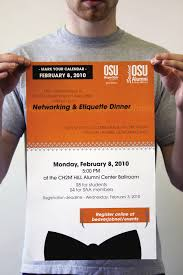 osu student alumni association by anna saffores at com networking etiquette dinner poster this poster was created for the student alumni associations seasonal networking dining etiquette dinner