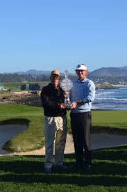the at t pebble beach pro am championship haute living pro am team brandt snedeker and his mentor toby wilt